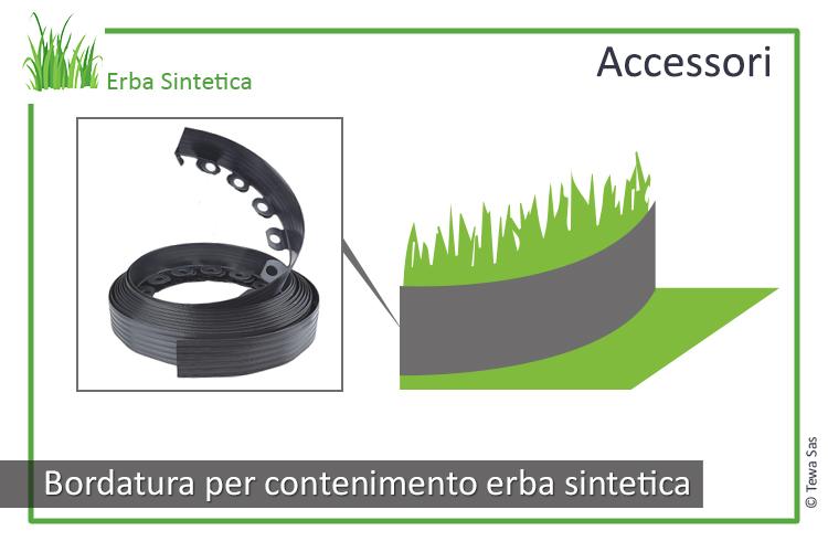 Bordatura per contenimento erba sintetica
